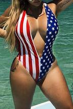 Independence Day Printed One-piece Swimwear - $23.26