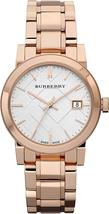 Burberry BU9104 Heritage Rose Gold Swiss Made Womens Watch - $207.32 CAD