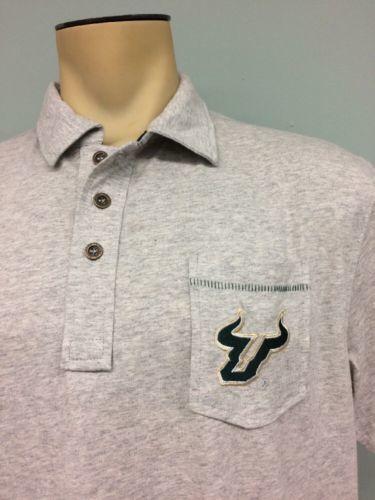 d7125649 USF Southern Florida Bulls Chiliwear Shirt Gray Golf NCAA Sport New