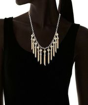 """Jules Smith 17.5"""" + 2.25"""" Gold Plated Fringe Drop Necklace NWT image 3"""