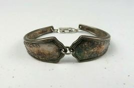 "Vintage Traditional German P Silver Tone Small Bracelet 2 1/2"" in Diameter - $44.99"