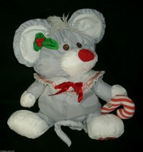 "12"" FISHER PRICE PUFFALUMP GRAY MOUSE STUFFED ANIMAL PLUSH TOY CHRISTMAS... - $36.47"