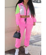 Casual Turndown Collar Patchwork Two-piece Pants Set - $31.10