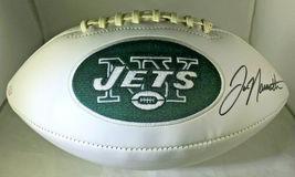 JOE NAMATH / NFL HALL OF FAME / HAND SIGNED NEW YORK JETS LOGO WHITE FOOTBALL