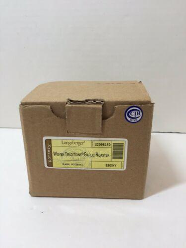 Longaberger Woven Traditions Garlic Roaster Ebony New in Box