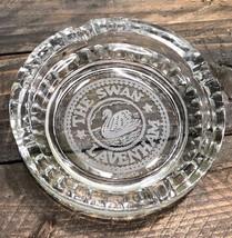 United Kingdom UK Lavenham Clear Ashtray Old Vintage Etched Souvenir - $20.57
