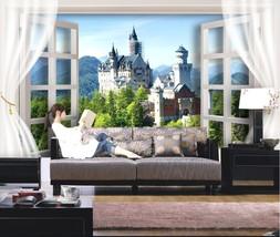 3D Schloss auf dem Hügel 277 Fototapeten Wandbild Fototapete BildTapete Familie - $52.21+