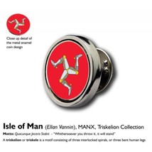 15mm Coin Lapel Pin Badge : Isle of Man (Ellan Vannin), MANX, Triskelion Collect