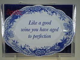 Spode Blue Room Oval Fluted Tray Like a Good Wine You Have Aged To Perfe... - $8.38