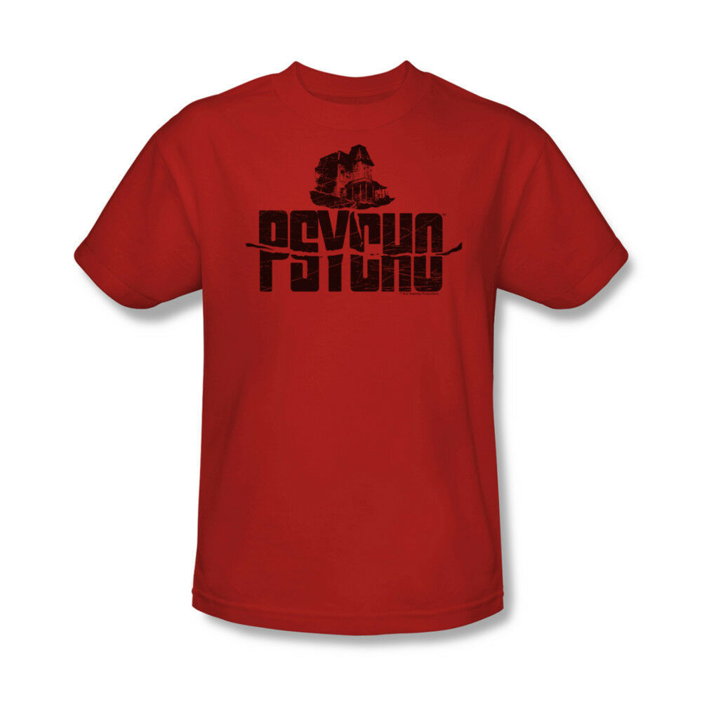 Psycho house t shirt alfred hitchcock classic movie red cotton tee uni201