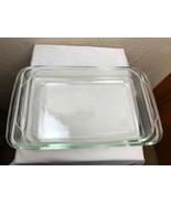 Vintage PYREX Glass 234 Lasagna Casserole Baking Dish Full Handles/new s... - $23.33