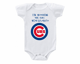 Chicago Cubs Watching With Grandpa Baby Onesie or Tee Shirt - $15.00
