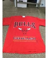Vintage Chicago Bulls Basketball Red Lee Sport T-Shirt Medium Good Condi... - $17.81