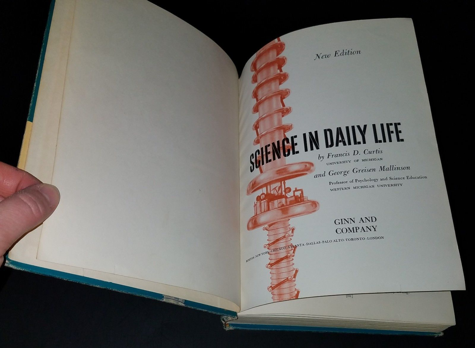 VTG Science in Daily Life Hardcover Book 1958 Francis Curtis George Mallinson