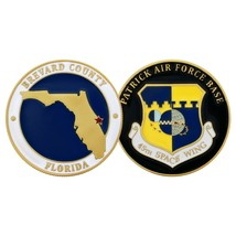 """PATRICK AIR FORCE BASE 45TH SPACE WING 1.75"""" CHALLENGE COIN - $17.14"""