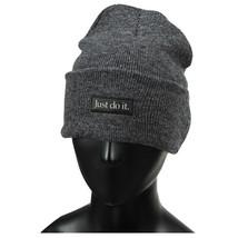 Nike NSW JDI Cuffed Beanie Winter Sportswear Ski Cap Hat Warm Chacoal CK... - $34.99