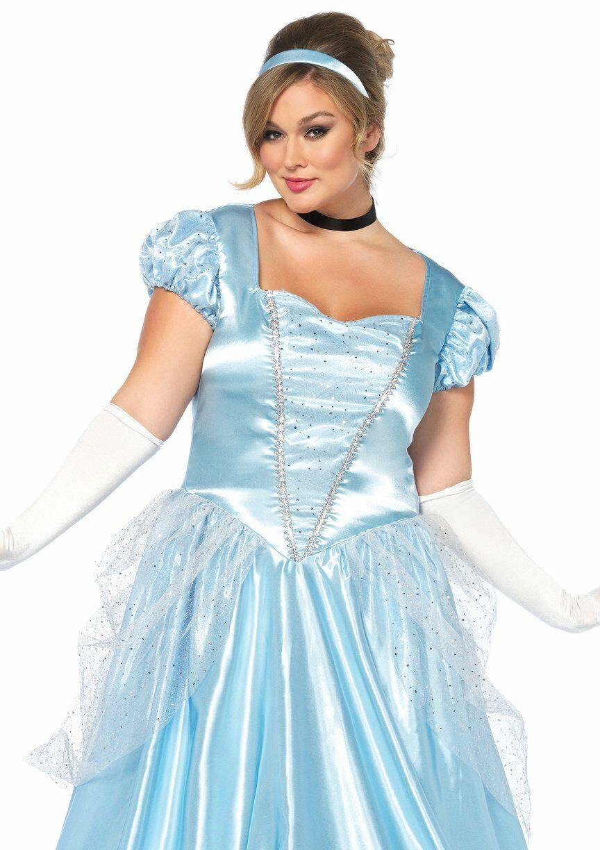 Leg Avenue Klassisch Cinderella Erwachsene Damen Übergröße Halloween Kostüm