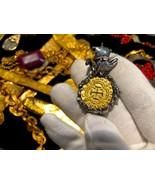 COLOMBIA 1622 PURE GOLD COIN w SHIP & OCTOPUS ATOCHA PENDANT JEWELRY NEC... - $1,088.00