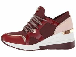 Michael Kors MK Women's Liv Trainer Sneakers Shoes Oxblood New /w Defect Sz 5.5 image 4