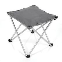 Mac Sports Padded Folding Outdoor Ottoman Charcoal Gray weather resistant - $26.88