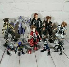 "Disney Kingdom Hearts 6"" Action Figures Lot Of 10, Sora, Axel, Shadow, N... - $98.01"