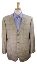 LORO PIANA  Bespoke Brown/Sky Blue Plaid 3-Btn 'Serico' Wool-Silk Blazer... - $245.00