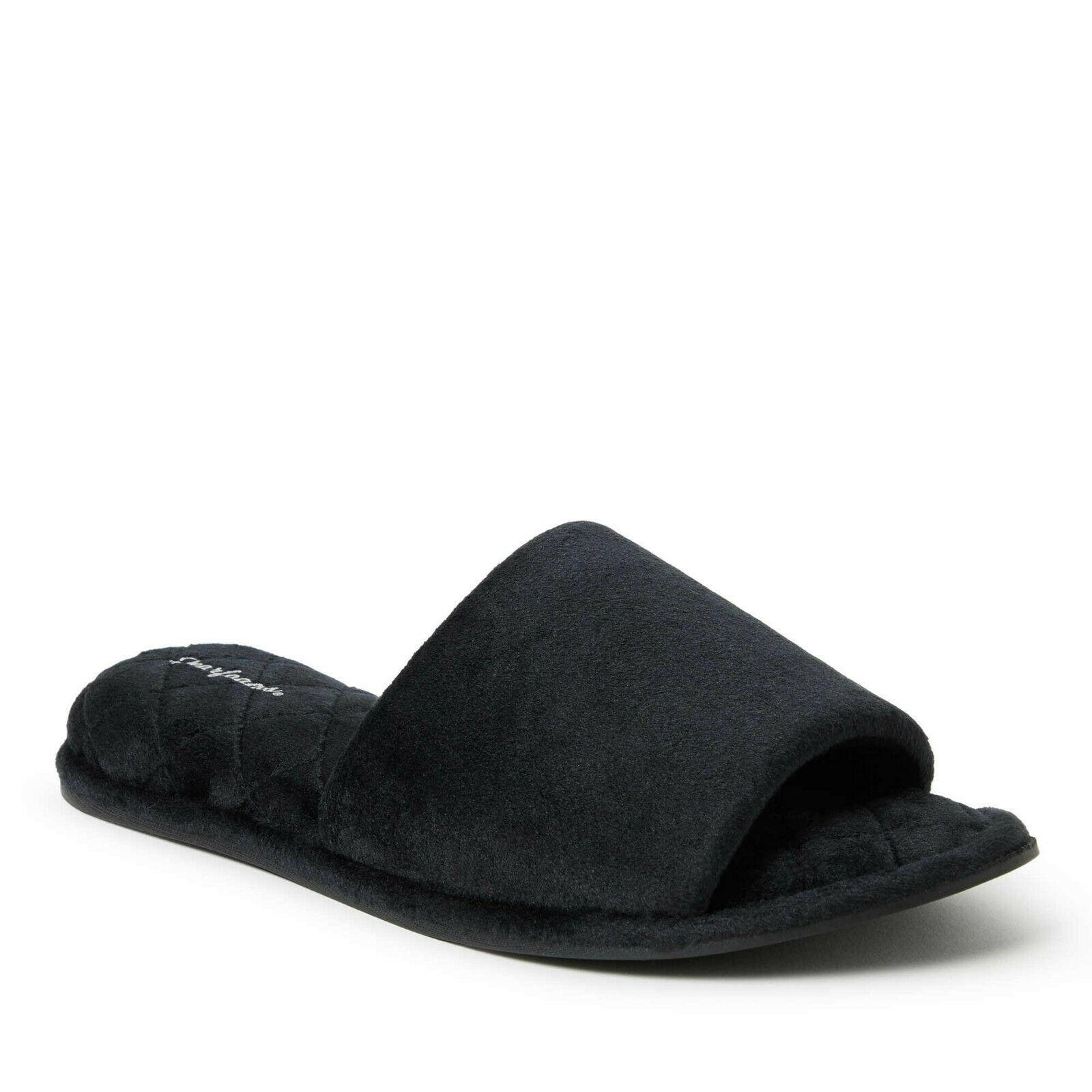 Dearfoams Women's Velour Black Side Gore Size XLarge - $19.79