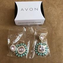 AVON Fancy Flora Earring Gift Set womens jewelry new in box dangle flowers - $12.50