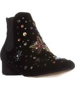 Betsey Johnson Jax Ankle Boots, Black Velvet - $32.99