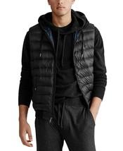 Polo Ralph Lauren Men's Double-Knit Hooded Vest Black-Size Medium - $99.99