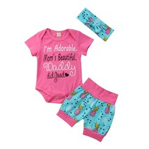 baby girl clothes set 2018 newborn summer 2 pcs clothing sets children g... - $12.69