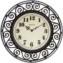 Westclox 32021 12 Filigree Rubbed Bronze Finish Clock - $27.50