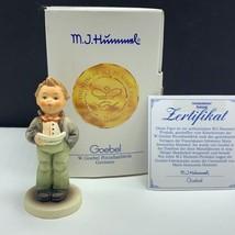 Goebel MJ Hummel club figurine germany box coa 407 soloist 135/4/0 signe... - $54.45