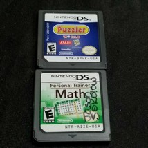 Puzzler World And Personal Trainer Math Nintendo DS - $12.86