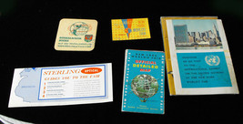 1964 New York World's Fair Lot story of sewing ticket coaster map + - $16.99