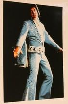 Elvis Presley Candid Photo Elvis In Blue Jumpsuit 4x6 - $6.92