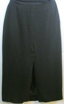 Skirt Black Long Straight Size 12 Jones New York  Free Shipping to US - $14.01