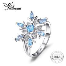 Snowflake Genuine Blue Topaz Ring - $39.95