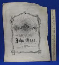John Goss Composer Antique Sheet Music Score For Easter Anthem - $20.78