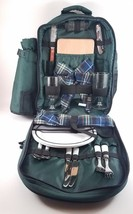 Picnic Backpack For 2 Person Lunch Set w/ Insulated Wine Cooler Camping ... - $561,97 MXN