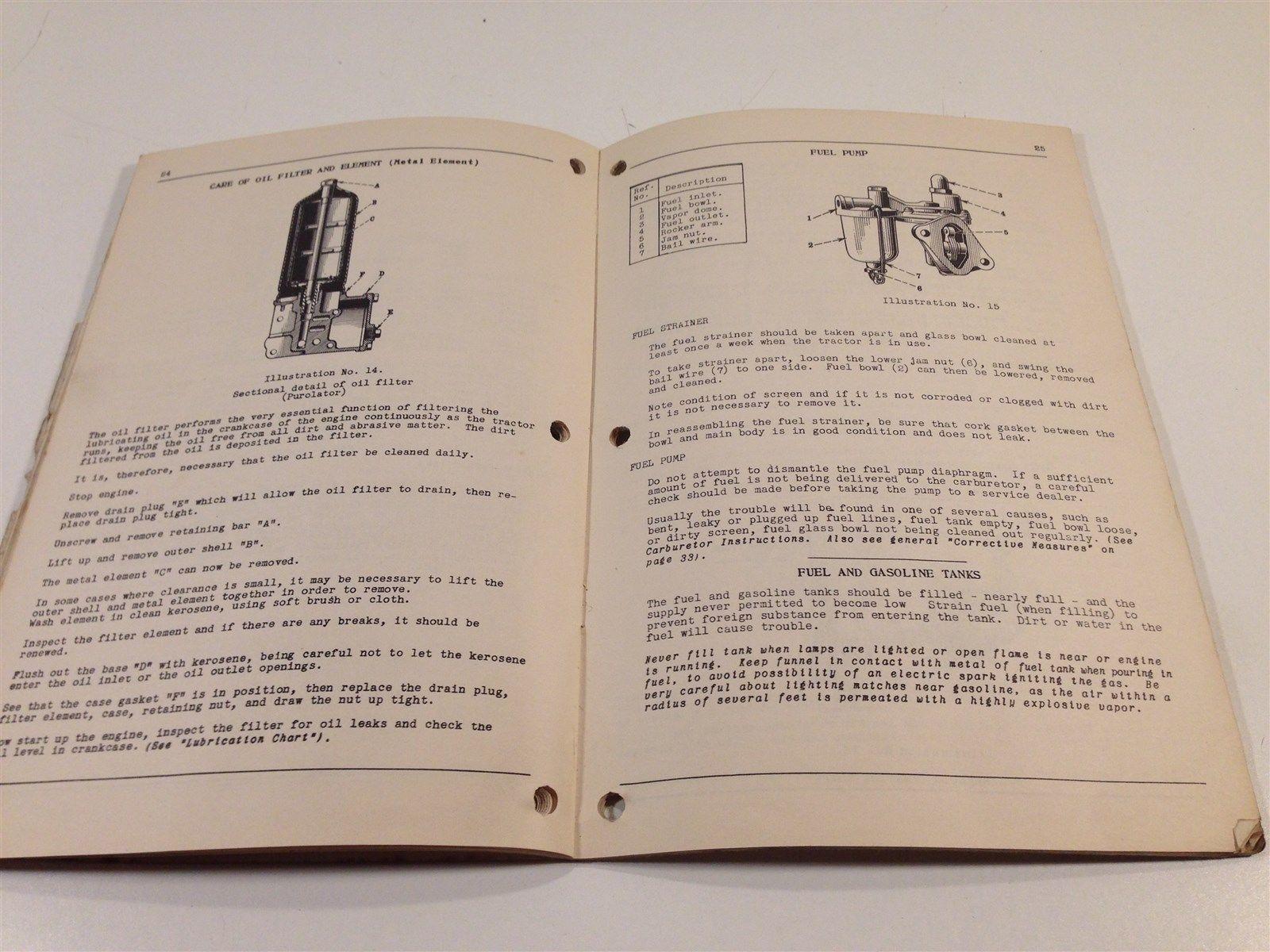 Vintage McCormick-Deering Farmall F-12 Tractor Instruction Manual Book 1949