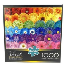New Buffalo 1000 Piece Puzzle Vivid Collection BLOOMS OF COLOR Sealed - $44.29