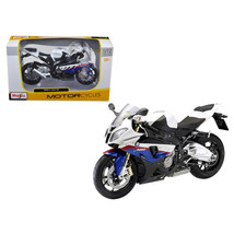 BMW S1000RR White/Red/Blue Motorcycle 1/12 Diecast Model by Maisto 31191wh - $21.90