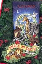 Dimension Peaceful Earth Peace Lion Zebra Jungle Needlepoint Stocking Ki... - $184.95