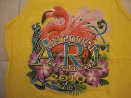 Melbourne Art Festival 2010 Souvenir Yellow Cotton Sleeveless Shirt Size L - $17.17