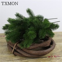 DIY Pastic Artificial Flowers Fake Plants Pine Branches For Christmas Ho... - $5.80