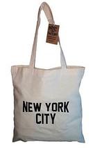 NYC Tote Bag New York City 100% Cotton Canvas Screenprinted - $7.99