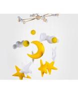 Handmade baby mobile moon and stars Baby nursery mobile Nursery decor un... - $34.90