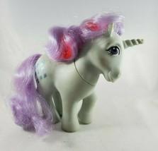 Vintage Hasbro G1 My Little Pony Sparkler Unicorn Blue Glitter Diamonds MLP - $24.99