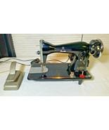 vintage white sewing machine - $193.88